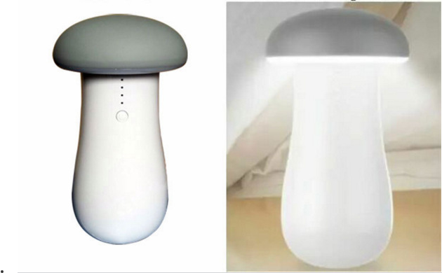 Cheap power bank mushroom power bank with desk lamp for wholesale
