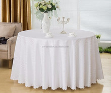 132' jacquard round table linens factory wholesale hotel table cloth