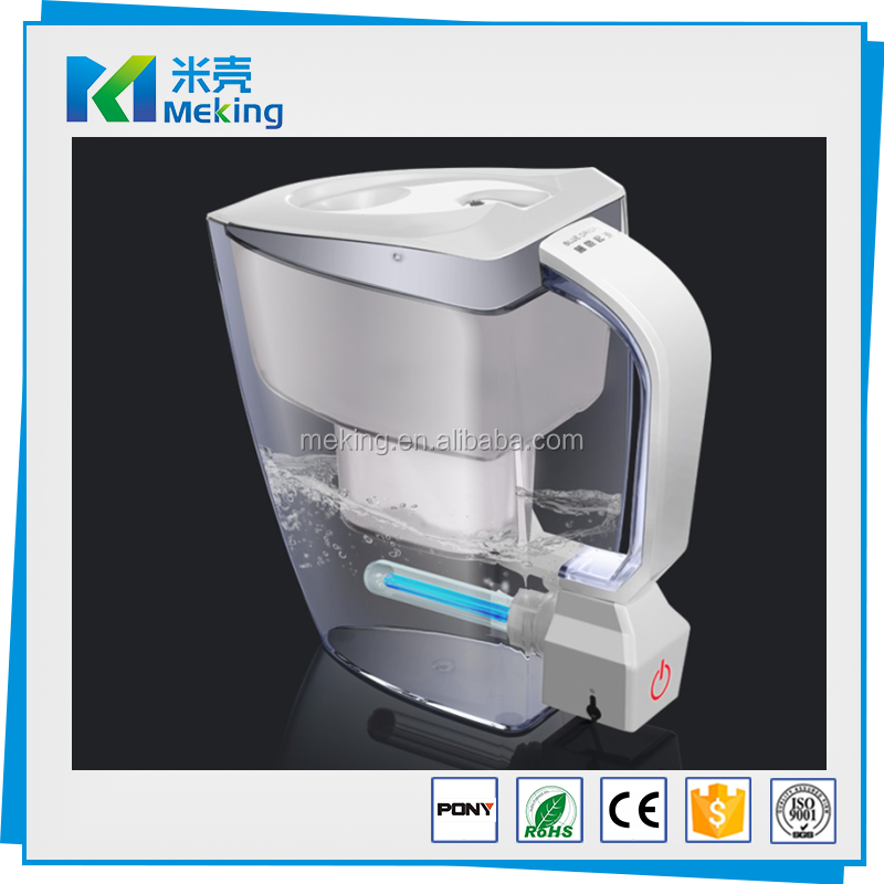2017 new Household Use Pure Water UV Filter Pitcher