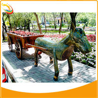 Chinese Tang Dynasty Large Bronze Horse Sculpture For Outdoor