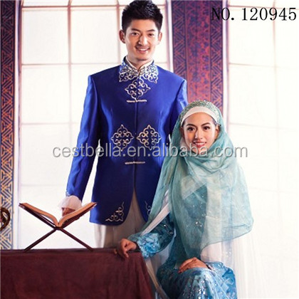 New Style Muslim Wedding Dress Suits For Men Plus size