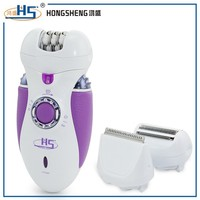 professional ladies electric shaver epilator with 3 heads