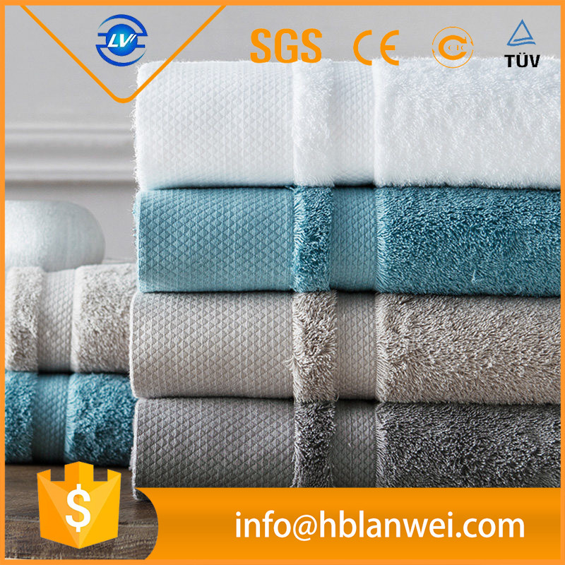 Luxury Hotel 100% Egyptian cotton Soft Dobby Bath towel in stock,Multi color selection BtT-129 China Supplier