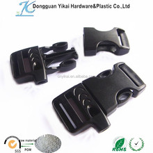 Dongguan Yikai flat Side Release whistle Buckle ,survival bracelet buckle with whistle