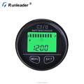 Runleader Battery Fuel Gauge Indicator With Hour Meter Clock For DC Powered Equipment Golf Carts Floor Care Equipment