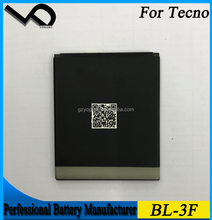 Low price mobile phone battery for Tecno BL-3F strong li battery