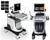 Pregnancy baby checking 4D color doppler ultrasound price, Large screen trolley ultrsound for big hospitals
