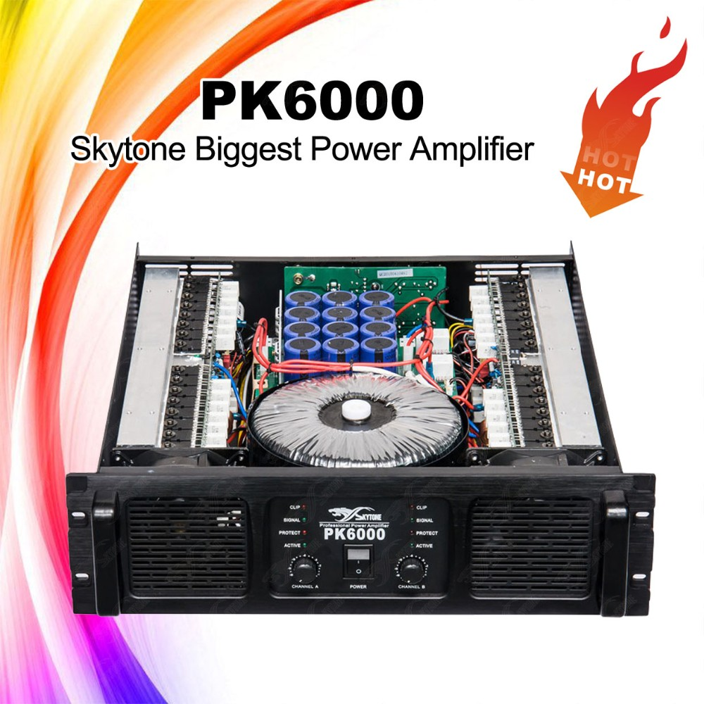Large Scale Show Amplifier, 1800W*2 PK6000 Spe Audio Amplifier