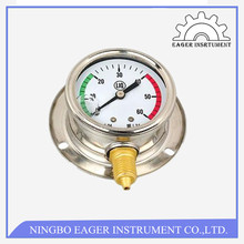 Stainless Steel Double bourdon tubes differential pressure gauge price,water pressure gauge