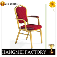 iron armrest dining chair for dinning room HM-A36
