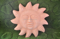 Clay Sun Face With Rays Wall Plaque Decor Home Decoration