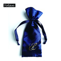 Navy Blue Cosmetic Satin Bag, Satin Pen bag, Custom Made Jewelry bags