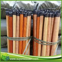 Plastic Mop Holder Pvc Covered Coated Wooden Broom Stick Handle