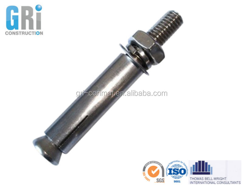 head sleeve anchors expansion bolt for precast concrete with standard size