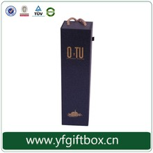 Yifeng 100% quanlity custom handle magnetic closure black paper wine gift box packaging
