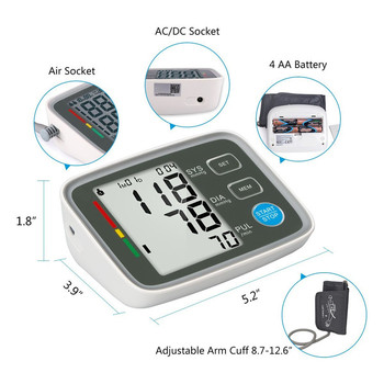 New design type Arm electric Blood Pressure Monitor digital portable