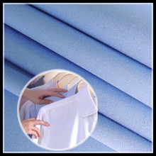65/35 Polyester Cotton Shirting Fabric 133*72 Sky Blue Color and White Color