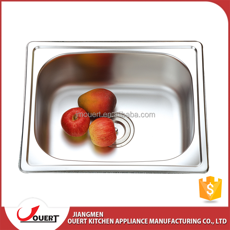 High quality reasonable price unique design teka S/S 304 single bowl rustic kitchen sinks