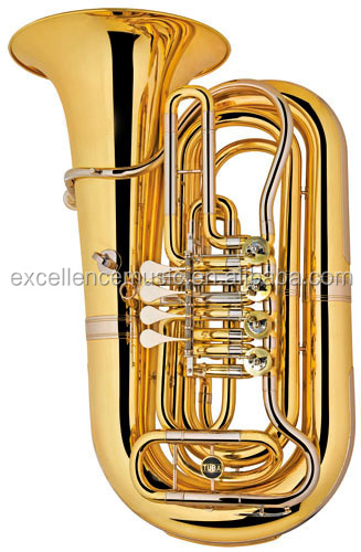 wind instruments professional marching BB 4 key Rotary tuba of China for wholesaler