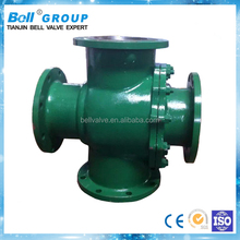 3 Inch Stainless Steel Flange Four Way Ball Valve