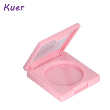 Pink Matte Square Plastic Customized Compact Loose Powder Case