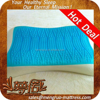 wave shape healthy memory foam gel pillow