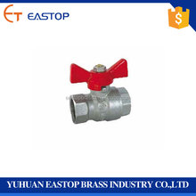 "Brass Ball Valve Exporter In Delhi 1/2"" One Way Flow Water Valve Butterfly Level Handle Control Water Brass Ball Valve"