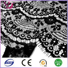 Polyester eyelash lace fabric for lady's bra and underwear