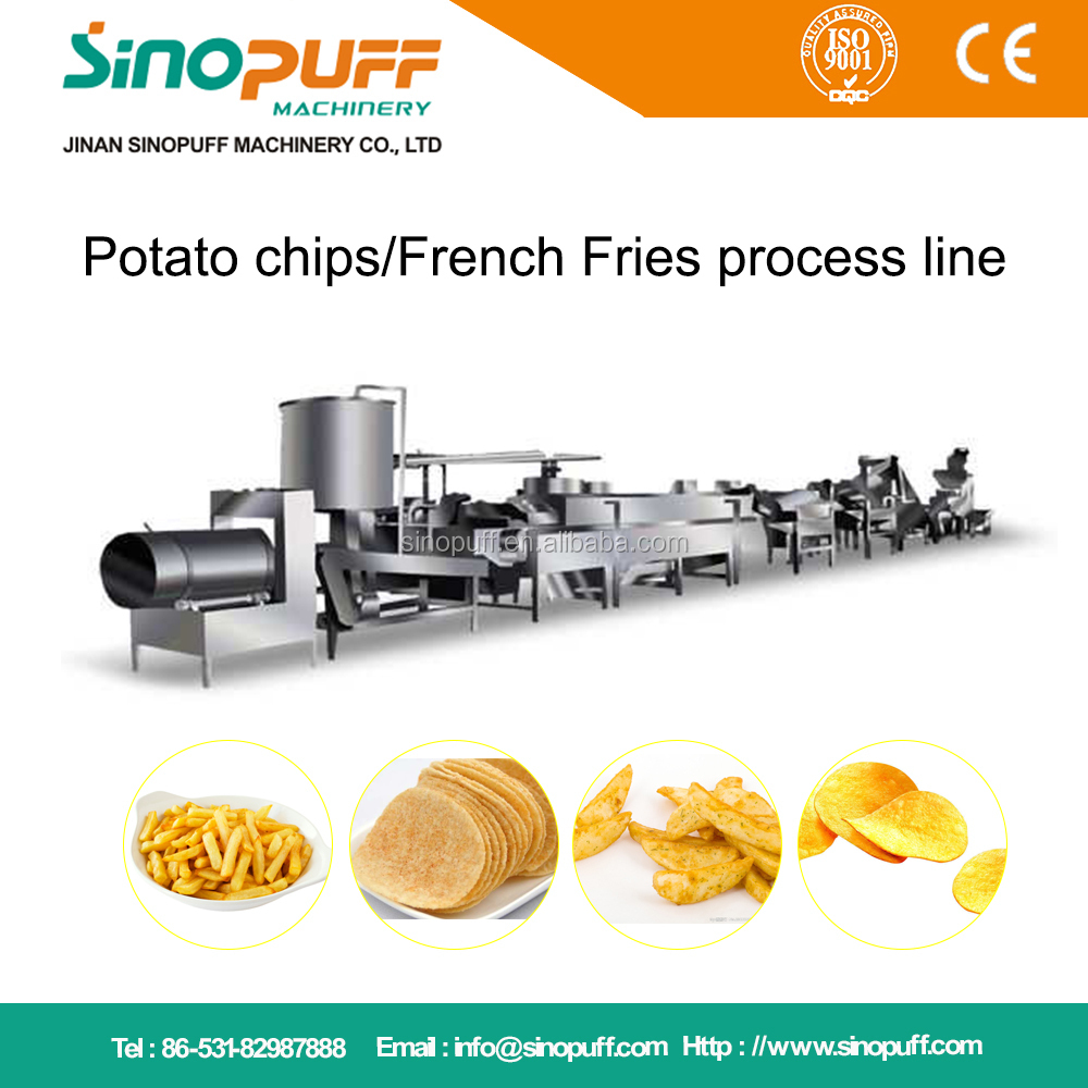Delicious French Fries/Potato Chips Snack Production Line