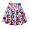 Best quality digital print cartoon school girl short pleated skirt