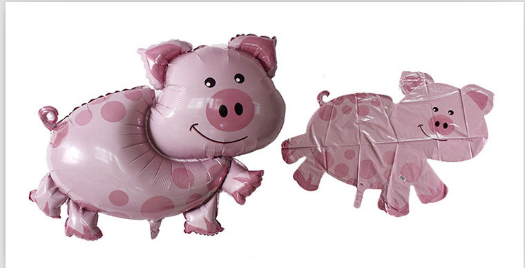 2014 New design pig shape inflatable foil balloon/helium balloon