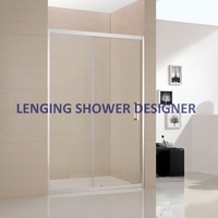 2016 straight partition shower cabin