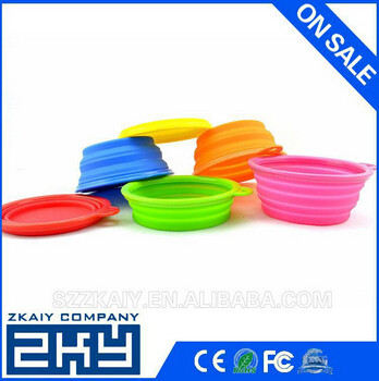 Manufacturer Silicone Pet Bowl Dog Bowl Pet Dishes collapsible dog bowl