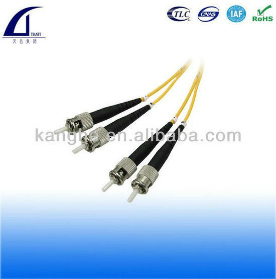 ST ST singlemode duplex Fiber Optic patch cable PC UPC and APC polishing available