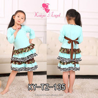 2016 long sleeve warmer kid clothes 2 pieces set ruffled frill girl clothing children clothing