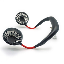 2019 newest portable hand free small neck <strong>fan</strong> 3 Speeds 360 Degree Adjustment Head for Office Travel Outdoor neck mounted <strong>fan</strong>