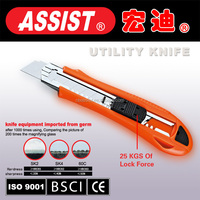 Made in China Assist Cheap 18mm stainless steel utility knife blade fixed plastic utility knife cutter,utility knife