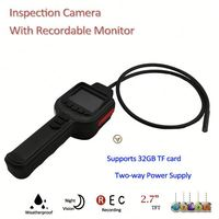 "2013 new products,IR Snake Inspection cctv surveillance security cameras with 2.7"" TFT Monitor, Support Max. 32GB TF Card"