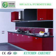 Smooth and High Glossy Top Quality PVC Finished MDF Kitchen Cabinet