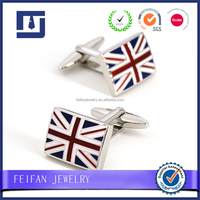 Design Exported Customized Flag Cufflinks Factory manufacture Fashion Jewelry for Men