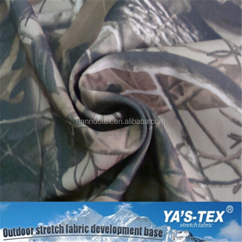 Camouflage Waterproof Windproof Anti UV Fabric Fleece Fabric Bonded Softshell Fabric For Jacket