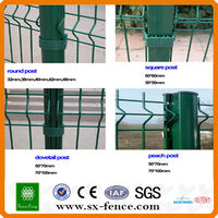 Construction safety used fence PVC coated portable wire mesh fence