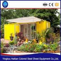 2016 pop hot sale new standard size prefab shipping container house small wooden house design