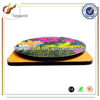 Best quality round novelty MDF cork coaster sets with customized logo TWC0834