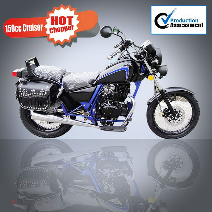 Nueva 150cc cruiser chopper motorcycle
