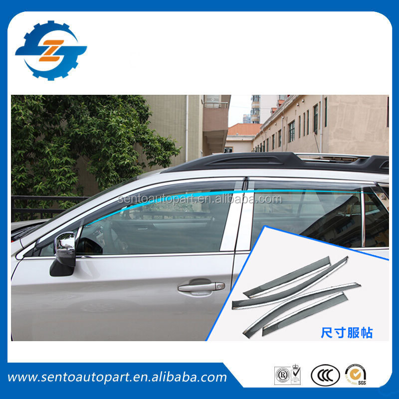 Hot Sale Car sun visor window visor vent deflector with plating bright fit for outback 2016
