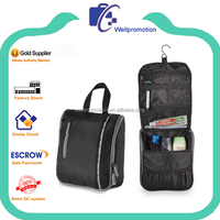 Stylish high quality hanging multi-compartment portable travel toilet bag