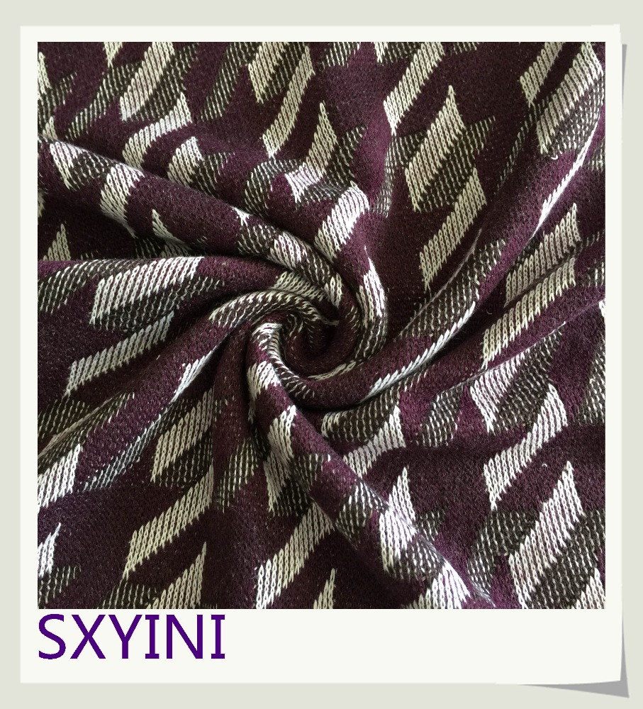 shaoxing YINI hot sell 100 polyester knitted jacquard fabric