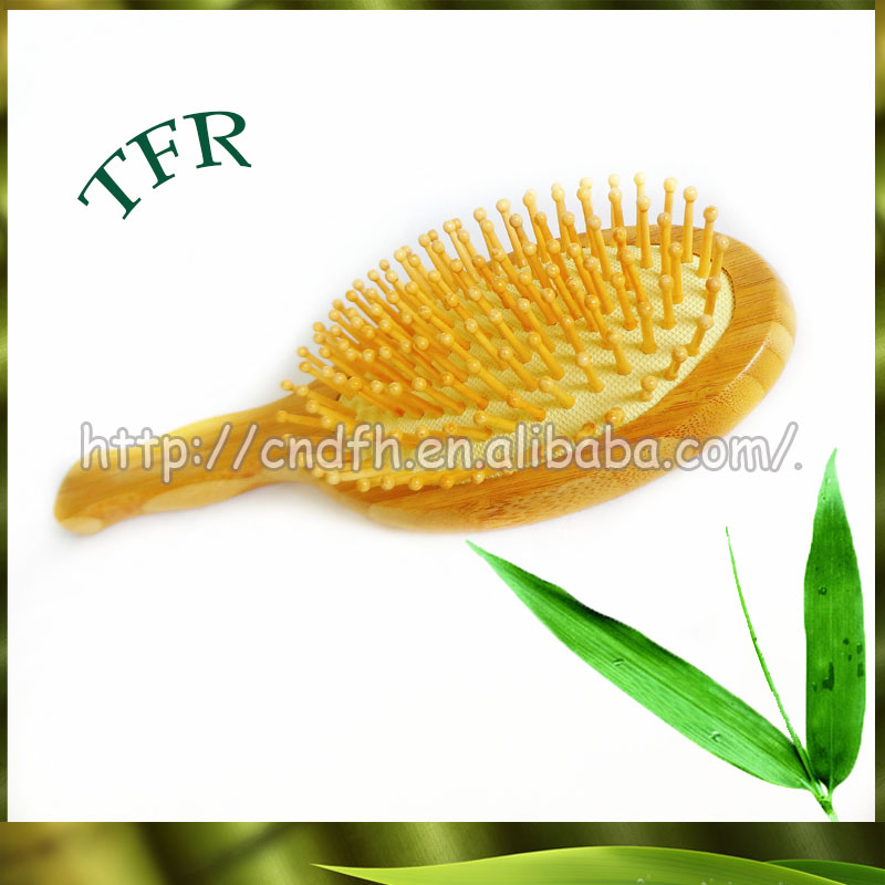 Factory selling bamboo scalp massage comb hair brush