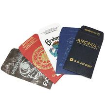 High quality custom printed foil stamping mini envelope printing for gift card